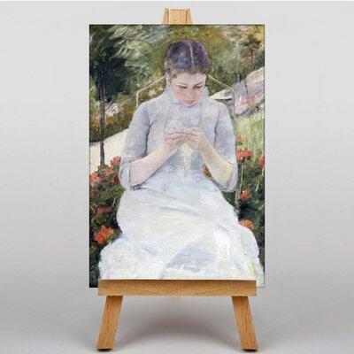 Big Box Art Girl In the Garden by Mary Cassatt Art Print on Canvas