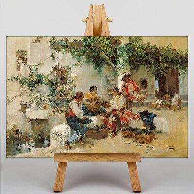 Big Box Art Melon Vendor by Joaquin Sorolla Y Bastida Art Print on Canvas