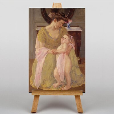 Big Box Art Mother with Child Rose Scarf by Mary Cassatt Art Print on Canvas