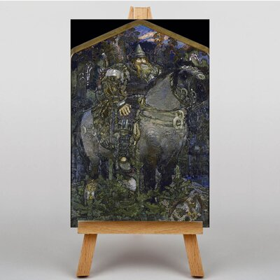 Big Box Art Bogatyre by Mikhail Vrubel Art Print on Canvas