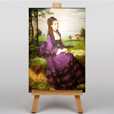 Big Box Art Woman in a Purple Dress by Pal Merse Art Print on Canvas