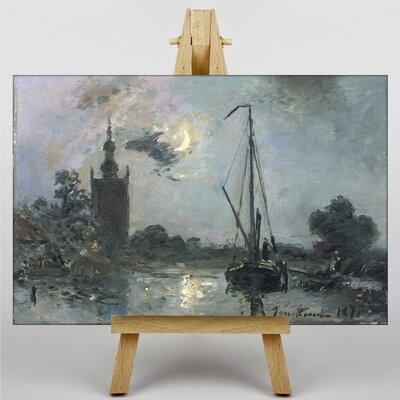 Big Box Art Moonshine by Johan Jongkind Art Print on Canvas