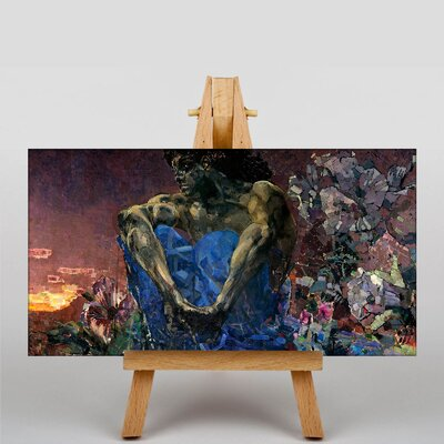 Big Box Art Seated Demon by Mikhail Vrubel Art Print on Canvas