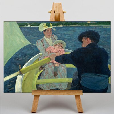 Big Box Art The Boating Party by Mary Cassatt Art Print on Canvas
