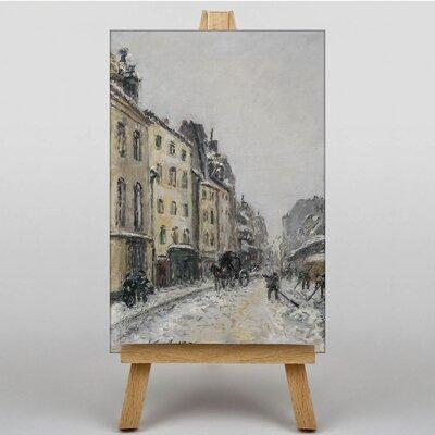 Big Box Art Snow Street by Johan Jongkind Art Print on Canvas