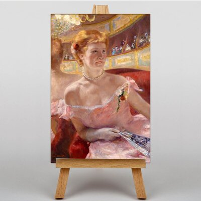 Big Box Art Woman with a Pearl Necklace by Mary Cassatt Art Print on Canvas
