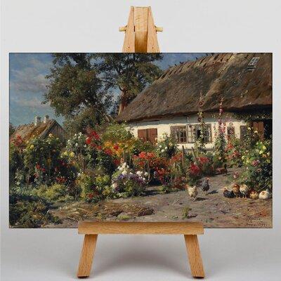 Big Box Art A Cottage Garden by Peder Mork Monstead Art Print on Canvas