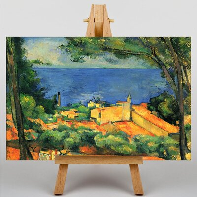Big Box Art Houses with Red Roofs by Paul Cezanne Art Print on Canvas