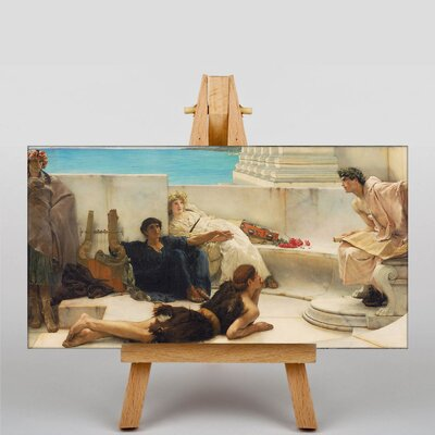 Big Box Art A Reading from Homer by Lawrence Alma-Tadema Art Print on Canvas