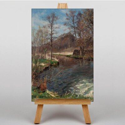 Big Box Art River Landscape by Peder Mork Monstead Art Print on Canvas