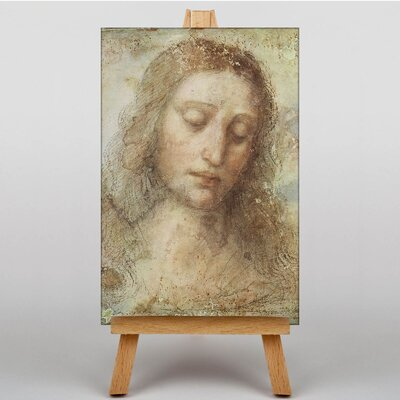 Big Box Art Head of Christ by Leonardo Da Vinci Art Print on Canvas