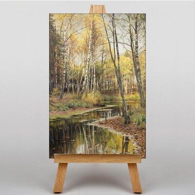 Big Box Art A Woodland Stream by Peder Mork Monstead Art Print on Canvas