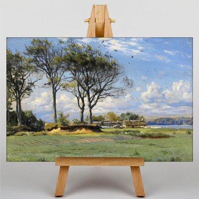 Big Box Art Sunlit Landscape by Peder Mork Monstead Art Print on Canvas