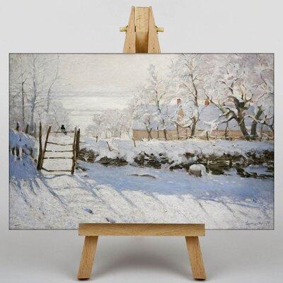 Big Box Art The Magpie by Claude Monet Art Print on Canvas