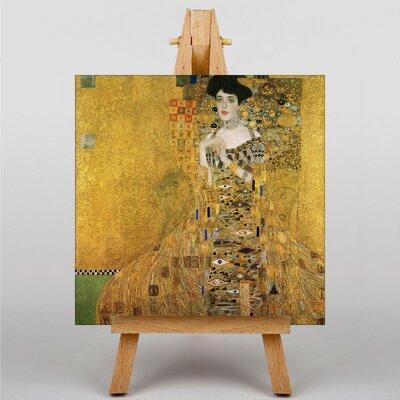 Big Box Art Portrait of Adele Bloch-Bauer I by Gustav Klimt Art Print on Canvas
