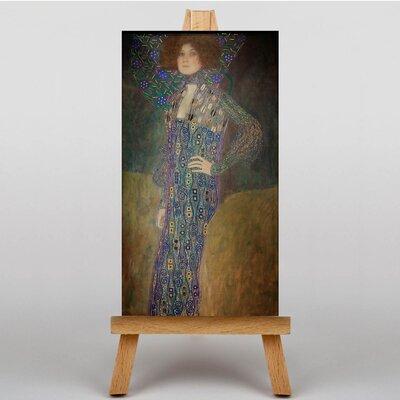 Big Box Art Portrait of Emily Floge by Gustav Klimt Art Print on Canvas