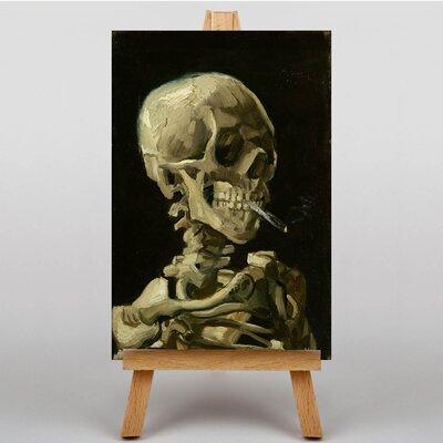 Big Box Art Cigarette with Skull by Vincent Van Gogh Art Print on Canvas