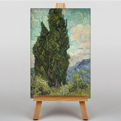 Big Box Art Cypresses by Vincent Van Gogh Art Print on Canvas