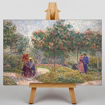 Big Box Art Garden with Courting Couples by Vincent Van Gogh Art Print on Canvas