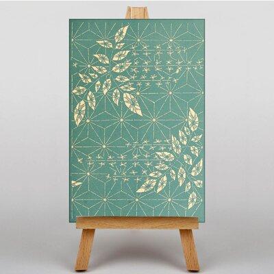 Big Box Art Geometrics and Leaves Japanese Oriental Graphic Art on Canvas