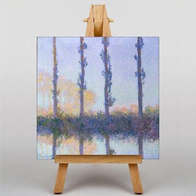 Big Box Art Four Trees by Claude Monet Art Print on Canvas