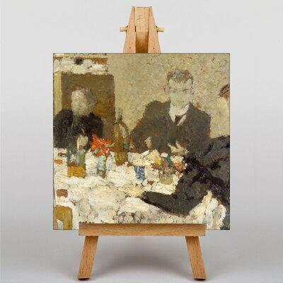 Big Box Art At the Table by Edouard Vuillard Art Print on Canvas
