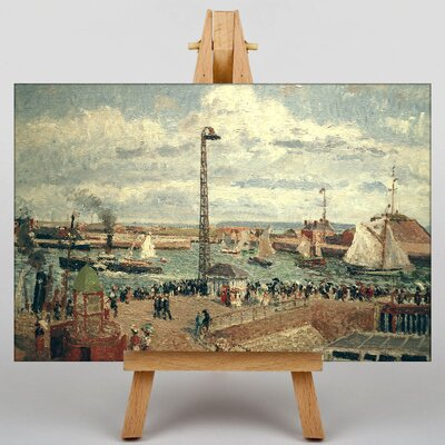 Big Box Art The Pilots Jetty by Camille Pissaro Art Print on Canvas