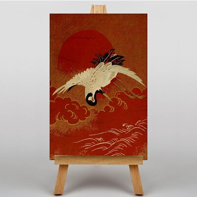 Big Box Art Crane Flying over the Sea Japanese Oriental Art Print on Canvas
