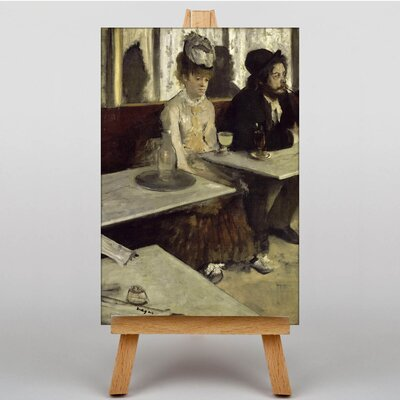 Big Box Art Absinthe Drinkers in a Cafe by Edgar Degas Art Print on Canvas