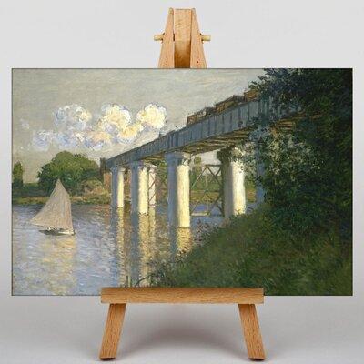 Big Box Art Railroad Bridge, Argenteuil by Claude Monet Art Print on Canvas