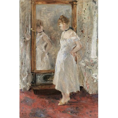 Big Box Art Reflection in The Mirror by Berthe Morisot Art Print on Canvas