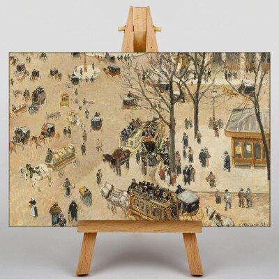 Big Box Art Theatre Place by Camille Pissarro Art Print on Canvas