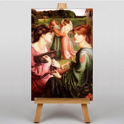 Big Box Art The Brower Meadow by Dante Gabriel Rossetti Art Print on Canvas