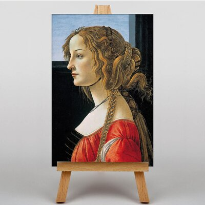 Big Box Art Simonetta Vespucci by Sandro Botticelli Art Print on Canvas