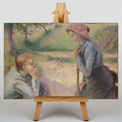 Big Box Art Two Young Peasant Women by Camille Pissaro Art Print on Canvas