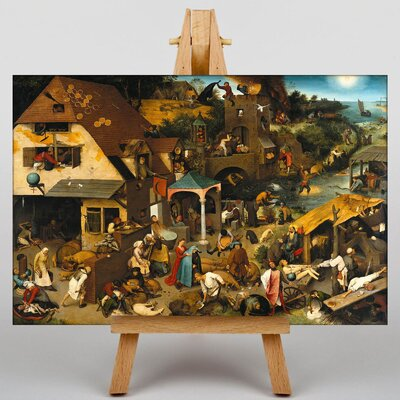 Big Box Art The Elder Neverlandish Proverbs by Pieter Bruegel Art Print on Canvas