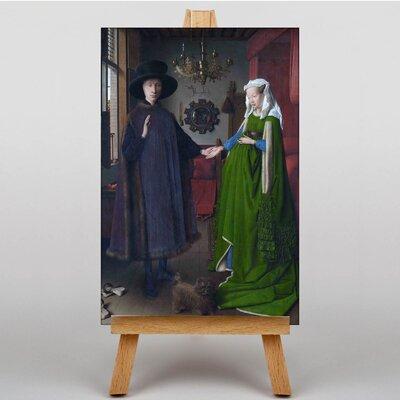 Big Box Art Arnolfini Portrait by Van Eyck Art Print on Canvas