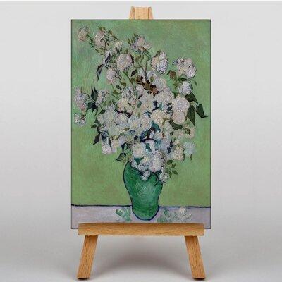 Big Box Art White Roses by Vincent Van Gogh Art Print on Canvas