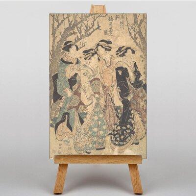 Big Box Art Japanese Oriental Four Women by Utagawa Art Print on Canvas