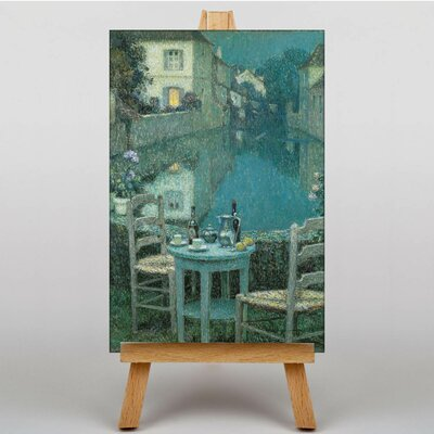 Big Box Art Table for Two by Henri Le Sidaner Art Print on Canvas