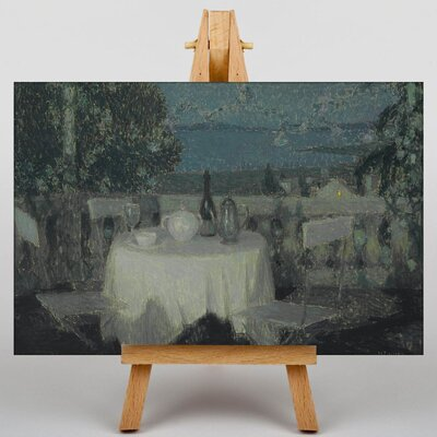 Big Box Art Table in the Morning by Henri Le Sidaner Art Print on Canvas