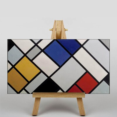 Big Box Art Contra Composition by Theo Van Doesburg Graphic Art on Canvas