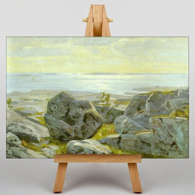Big Box Art Beach Landscape Island by Victor Westerholm Art Print on Canvas