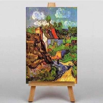 Big Box Art Houses Auvers by Vincent Van Gogh Art Print on Canvas