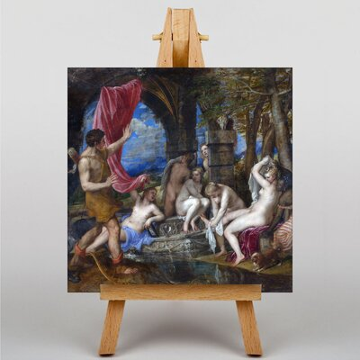 Big Box Art Diana and Actaeon by Titian Art Print on Canvas