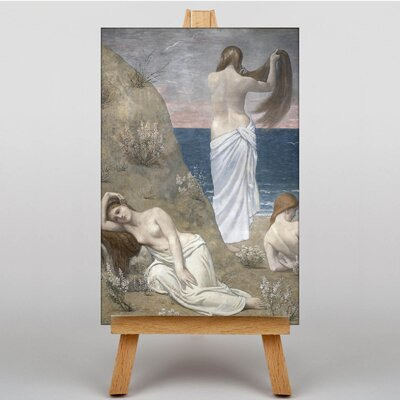 Big Box Art Chanes Young Girls by the Seaside by Pierre Puvis de Chavannes Art Print on Canvas