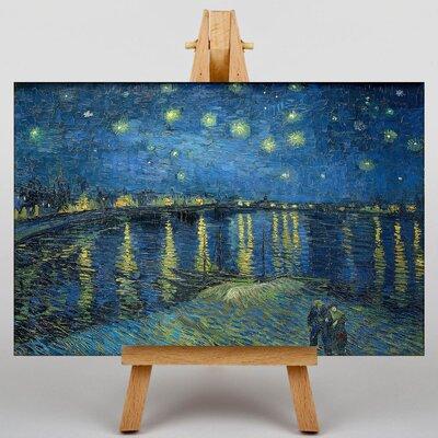 Big Box Art Starry Night over the Rhone by Vincent Van Gogh Art Print on Canvas