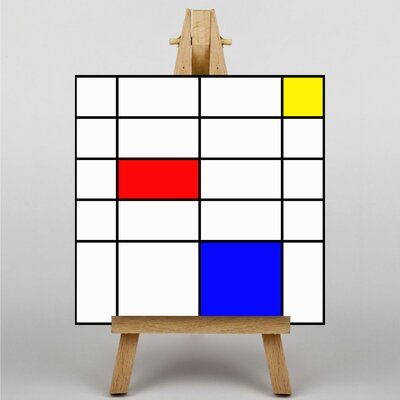 Big Box Art Style Of No.2 by Piet Mondrian Graphic Art on Canvas