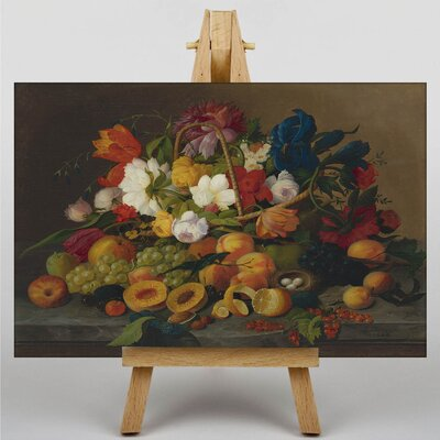Big Box Art Still Life Flowers No.2 by Severin Roesen Art Print on Canvas