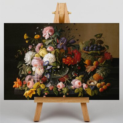 Big Box Art Still Life Flowers by Severin Roesen Art Print on Canvas